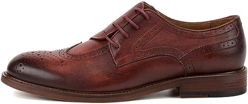 schuhe para herren, Vintage, Casual, Oxford, Low schuhe, Broch, Comfort, Business