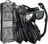 HEAD Rapido Italian Design Premium Tempered Glass Lens Snorkeling Mask - Easy...