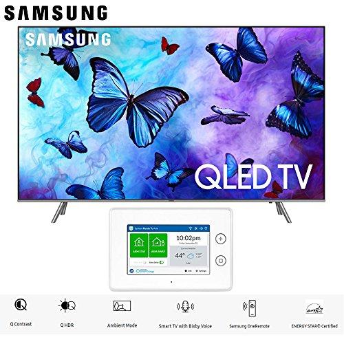 Samsung QN75Q6FNA QN75Q6 QN75Q6F 75Q6 75' QLED Smart 4K UHD TV (2018 Model) with SmartThings ADT Home Security Starter Kit - (F-ADT-STR-KT-1)