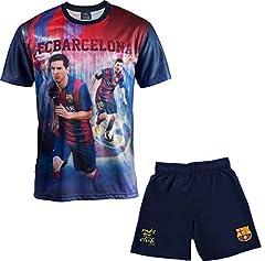 Conjunto FC Barcelone Camiseta + Short Colección Oficia para Niño - Lionel Messi