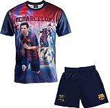 FC Barcelona Set Trikot + Shorts Barça – Lionel Messi – Offizielle Kollektion Kindergröße Jungen 14 Jahre