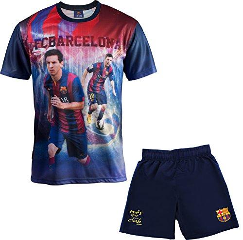 Conjunto camiseta + Short FC Barcelona–Lionel Messi–Colección oficial FC Barcelona–Talla de Niño,...