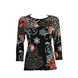 Jess & Jane Miracle Night Holiday Top in Black