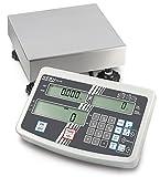 Plattformwaage [Kern IFS 10K-4] Industriezählwaage mit komfortabler Zehnertastatur zur bequemen Dateneingabe, Wägebereich [Max]: 6 kg / 15 kg, Ablesbarkeit [d]: 0,1 g / 0,2 g, Reproduzierbarkeit: 0,1 g / 0,2 g, Linearität: 0,4 g / 0,8 g, Wägeplatte: BxTxH 300x240x110 mm (Edelstahl) -