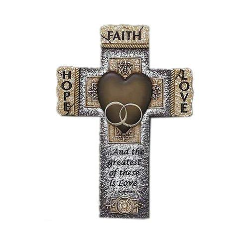 Faith Hope Love Marriage Cross