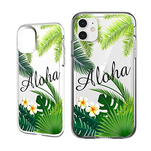 Shark Compatible Summer Collection Tropical Aloha Hawaii Travel TPU case Replacement for (iPhone 7 Plus-Palm)