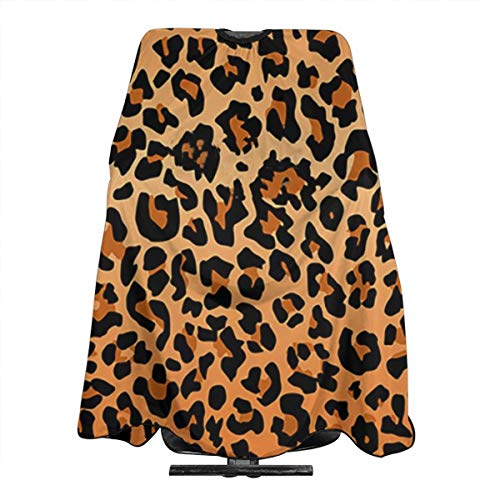 Professional Barber Cape Best Leopard Print Hair Stylist Salon Capes Clients Hair Cutting Cape Waterproof Polyester Haircut Apron Shawl for Women Men Adult