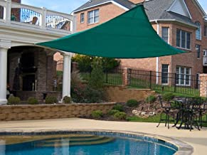 King Canopy PC2000010G 10-Feet by 10-Feet Triangle Sun Shade Sail, Green (Discontinued by Manufacturer)