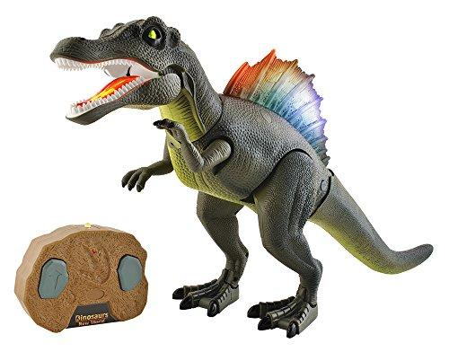 ISO TRADE Dinosaurier Roboter mit Fernbedienung, Welcher brüllen, aufleuchten und Laufen kann #5958