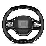 NFRADFM Copertura del volante dell'automobile in fibra di carbonio copertura del cuoio,Per Peugeot 308 207 208 3008 2008 4008 5008 508 accessori interni