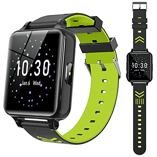 Smart Watch for Kids Girls Boys - Kids Smart Watch for 4-12 Years with Games Music Player Alarm Clock Camera Calculator Calendar Educational Toys Digital Wrist Watch Christmas Birthday Gifts (Green)