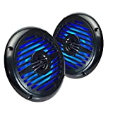 Magnadyne WR5B-LED 5.25 INCH Water Resistant 2-Way Speaker with Blue LED Lights (Sold AS A Pair)