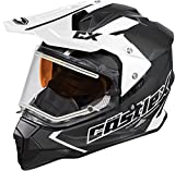 Castle X Mode Dual-Sport SV Team Electric Snowmobile Helmet (XLG, Black)