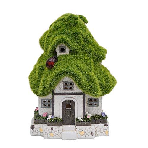 V&M Valery Madelyn ソーラー置物 もふもふ 樹屋 20cm ソーラーライト ガーデンオーナメント 置物ライト かわいい 童話 庭 飾り 屋外 アウトドア デコレーション 電池不要 防水