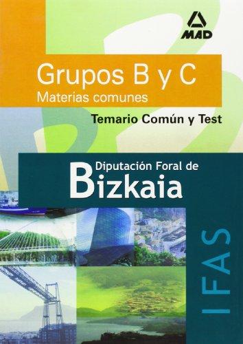 Grupos b y c diputación foral de bizkaia. Instituto foral de asistencia social. Temario comun y test