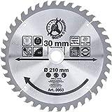 Kraftmann 3953 | Lame de scie circulaire en métal dur | Ø210 x 30 x 2,6 mm | 40 dents