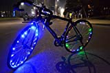 Eximtrade 18 LED Bici Bicicleta Ruedas Luces Borde Impermeable (Azul)