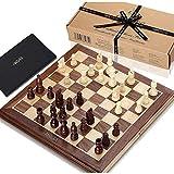 Odxlzc Compre Ahora: Juego de ajedrez El Juego de ajedrez Jaques Real comenzó en 1795, con tableros de chapaleta Jaques de Nogal y Arce