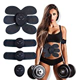 MASOMRUN Electroestimulador Muscular Abdominales, EMS Estimulador Muscular Abdominales Cinturón, ABS Estimulador Muscular para Bdomen/Brazo/Piernas/Glúteos