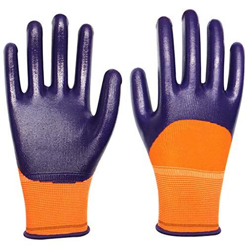 ZhuFengshop industriële handschoenen, werkhandschoenen, werkhandschoenen, werkhandschoenen met comfortabele coating, ademend, mantel van tricot, gemiddelde handschoenen, werkhandschoenen, boerderij