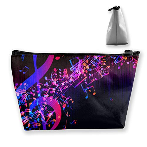 Colorful Galaxy Music Note Cosmetics Organizer for Traveling
