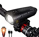 Antimi LED Bike Light Set, USB Rechargeable Headlamp IPX5 Waterproof Bicycle Light Mountain Bike Light Front...