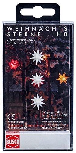 Busch 5414 - DREI weiß leuchtende Weihnachtssterne, Fahrzeug