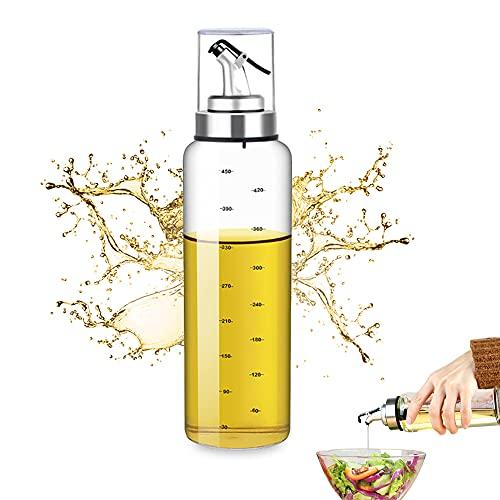 LUKIUP® Dispenser di Olio D'oliva da 500 ml con Beccuccio, Oliera Salvagoccia, Dosatore di Olio da Cucina, Olio Cucina in Vetro per Barbecue, Pasta e Insalate