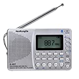 Docooler K607 Radio portátil Am/FM/SW/TF Radio de Bolsillo MP3 Grabadora Digital Soporte Tarjeta TF Grabador USB Rec Tiempo de Reposo