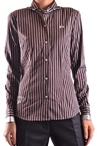La Martina Luxury Fashion Damen MCBI20333 Braun Elastan Hemd | Jahreszeit Outlet