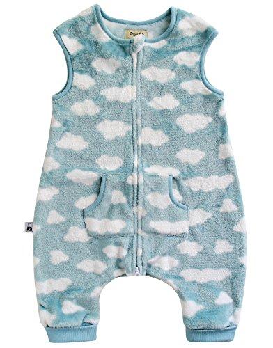 Vaenait baby 1-7Y Ultra Plush Fleece Kids Boys Wearable Blanket Slepper Cloud Mint S
