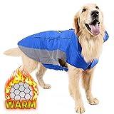 犬服 秋冬 防寒着 コート ジャケット 小型犬 中型犬 大型犬向け ドッグウェア 冬 大型犬 ベスト 裏地 熱反射生地 ハーネス穴 リード穴あり 簡単マジックテープ脱着 反射テープ付き