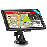 GPS Navigation for Car, Truck Car Touchscreen 7 Inch 8G 256M Voice Guide Flash Warning with POI Lifetime Free Map Update Navigation Device Lane Assistant EU UK 48 Maps -