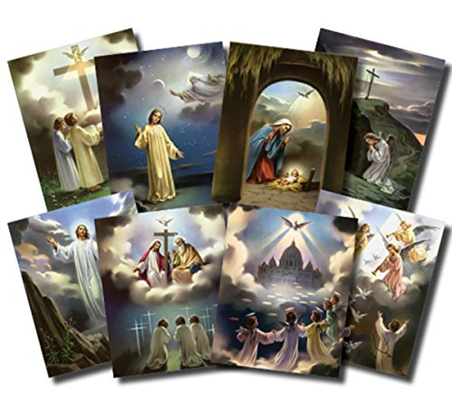 7 Pieces The Seven Sacraments Illustrated Cardstock Poster Set 10 Inch
