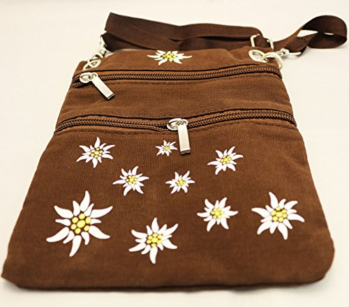 Panelize Trachtentasche Trachtenzubehör Dirndltasche in schwarz oder braun Oktoberfest (braun)