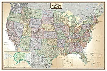 24x36 United States USA US Executive Wall Map Poster Mural  24x36 Paper