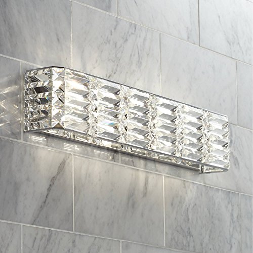 Vivienne Modern Wall Light Chrome Hardwired 24 1/2' Wide Light...