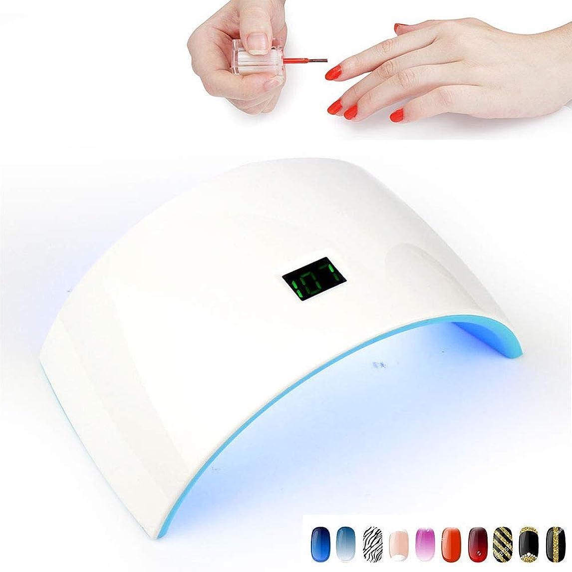宣言する期限切れガウン釘のためのランプおよびゲルのポーランド人ランプ24Wドライヤーの光線療法機械液晶ディスプレイが付いている速い治癒のゲルのニス、標準的なモデル,充電
