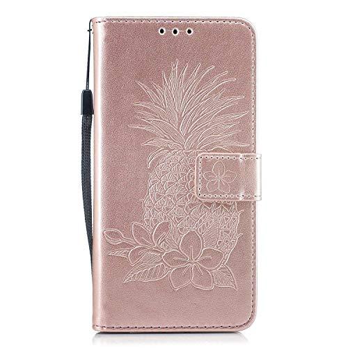 DENDICO Xiaomi Redmi Note 5A Hülle Premium Leder Schutzhülle Tasche Case mit Kartensteckplätzen für Xiaomi Redmi Note 5A Brieftasche Lederhülle im Bookstyle - Rose Gold