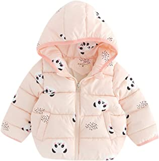 Winter Coats for Kids with Hoods - Cartoon Cute Printing Zip Thick Warm Jacket Snowsuit Snowwear Outerwear for Infant Toddler Baby Boys Girls Age 6 Months -3 Years