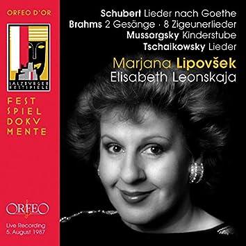 Schubert, Brahms & Mussorgsky: Lieder (Live)