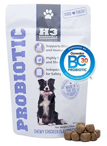 H3 Essentials - Probiotics for Dogs - Improves Upset Stomach, Diarrhea and...