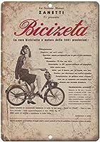 イタリアの自転車ヴィンテージティンサインの装飾ヴィンテージ壁金属プラークカフェバー映画ギフト結婚式誕生日警告のためのレトロな鉄の絵