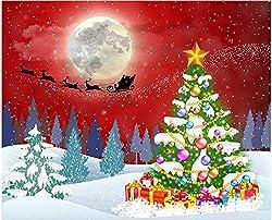 in budget affordable 5D DIY Diamond Painting Kit for Adults Full Drill Diamond Art Photo Christmas Santa Elk…