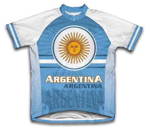 ScudoPro Argentina Maillot Cycliste à Manches Courtes pour Hommes -