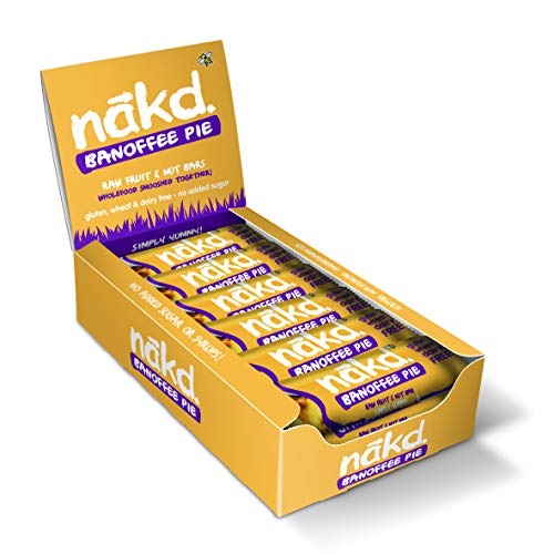 Nakd Raw Fruit and Nut Bars - Case of 18 (Banoffee Pie)