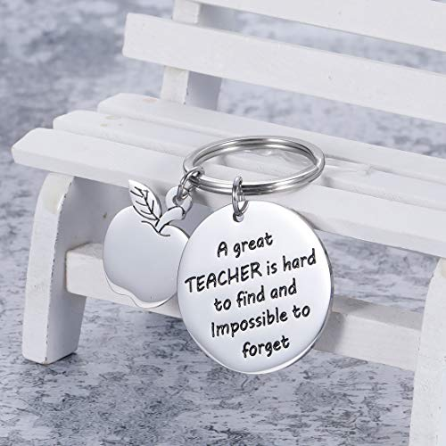 Teacher Appreciation Keychain Gifts for Women Men - Teacher Keychain Teacher Jewelry Teacher Gifts,Thank You Gifts Christmas Birthday Graduation Gifts for Teacher Valentine's Day Photo #2