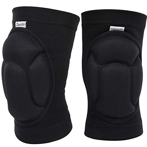 Soudittur Elastische Kniebandage Sport Knieschoner Warm Knieschutz/Knieorthese für Volleyball,Basketball, Tennis,Laufen für Damen und Herren