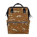 Mochila de dinosaurio esqueleto para pañales, bolso para mamá y mujer, bolsa de pañales de viaje, mochila grande para la escuela, portátil, senderismo