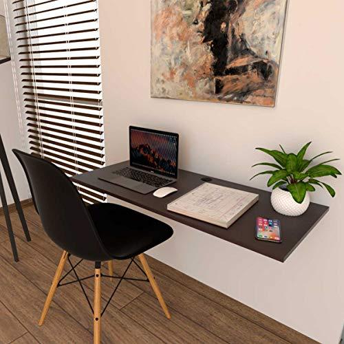 Poliespacios Escritorio para Computadora Plegable 100x45 cm - Chocolate Texturizado